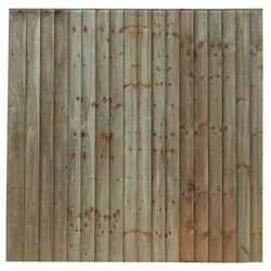 Pressure Treated Feather Edge Fence Panel